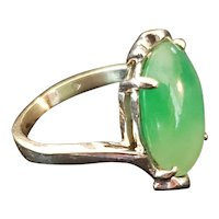 14k gold Translucent Jadeite ring