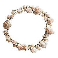 Italian 14k Angel Skin Coral necklace