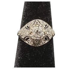 Art Deco Platinum Diamond ring