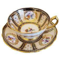 """Paragon """"Queen Mary Pattern """" Cup & Saucer"""