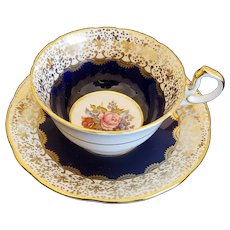 Aynsley Cup & Saucer signed Bailey