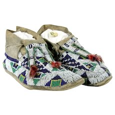 Sioux Beaded Mocassins - 19th Century
