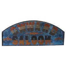 "19th Saloon Sign ""G W Ward"" Saloon"