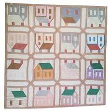 Schoolhouse Quilt late 19th c