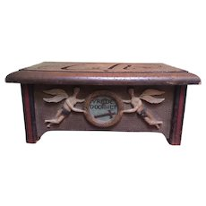 Carved and Painted Dutch Bible Box/Stand