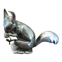 BUCCELLATI  silver sculpture of a squirrel