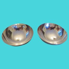 TIFFANY & CO.-pair of sterling silver small candy or nut bowls