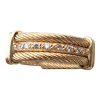 PHILIPPE CHARRIOL 18k yellow gold and diamond ring