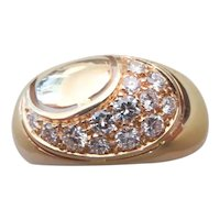 CHANTECLER- 18k rose gold and pave diamond ring