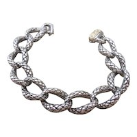 SCOTT KAY  sterling silver and 18k yellow gold bracelet