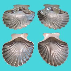 TIFFANY & CO.-VERY RARE Mid Century set of sterling silver shell dishes, circa 1944