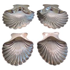 TIFFANY & CO.-VERY RARE set of sterling silver shell dishes, circa 1944