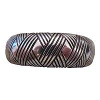 ALBERT BIGHAND-NAVAJO sterling silver cuff bracelet
