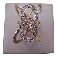 LATE MID-CENTURY(1970's) 14k yellow gold and diamond ring
