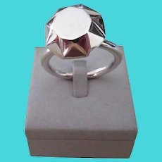 "TIFFANY & CO.-Rare sterling silver ""Diamond"" key ring"