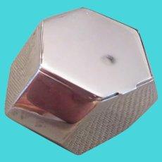 TIFFANY & CO. rare sterling silver pill box