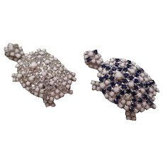 PAULINE TRIGERE-Rare Vintage costume Turtle pins