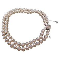 MAJORICA-Magnificent large Faux pearl necklace