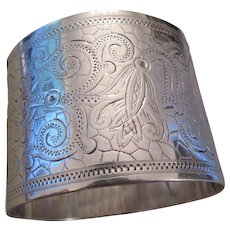 ANTIQUE ENGLISH Sterling Silver napkin ring-1888