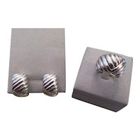 BLACK, STARR AND FROST-Sterling Silver ring and earring set