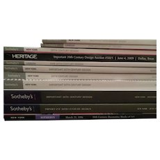 SOTHEBY'S Important 20th century Design catalogues