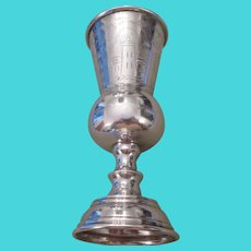 Antique Russian 84 silver Kiddush Cup-1882