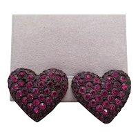 Vintage KENNETH LANE heart shaped earrings