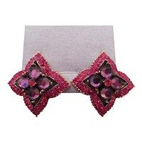 JAY FEINBERG(STRONGWATER) red stone costume earrings