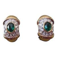 Vintage NINA RICCI gem set earrings