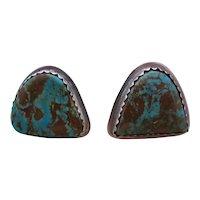 JP GARCIA Handmade Sterling Silver & Turquoise earrings
