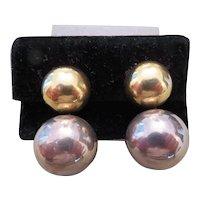 Vintage VAUBEL double ball earrings