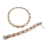 CROWN TRIFARI-necklace and bracelet