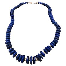 LAPIS LAZULI and 14k yellow gold necklace
