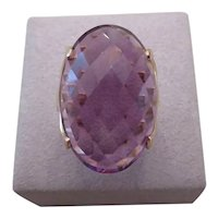 18k yellow gold and AMETHYST ring