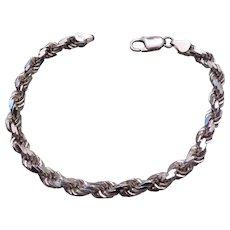 ITALIAN Sterling silver rope bracelet
