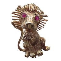 CELLINO 18k yellow gold Lion brooch