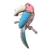 Kenneth Lane for Hattie Carnegie Toucan brooch