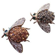 Pair of CAROLEE bug pins