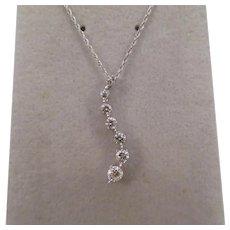 Lovely 14k White Gold and diamond pendant