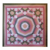 Civil War Era Quilt ~ Star of Bethlehem with Satellites
