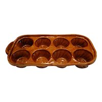French Antique Yellow ware Baking Mold