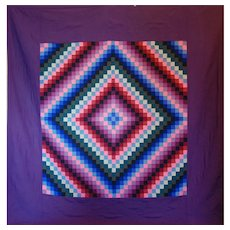 Amish Quilt Purple ~ Sunshine and Shadow ~ c.1940