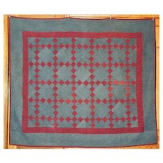 AMISH Quilt HOLMES CO ~ Signed & Dated ~ Elegant Colors
