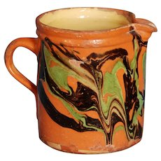 19th c French Savoie Jaspe Pitcher