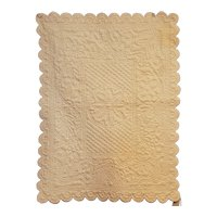 French Wholecloth White Crib Quilt