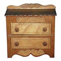 Wooden Doll Dresser ~ Vintage Toy Bureau