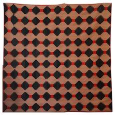 LOG CABIN Quilt ~ Graphic ~ CIVIL WAR ERA ~ Antique Woolen ~ Small Scale