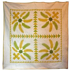 19th Century Princess Feather Quilt