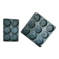 2 Graniteware Muffin Tins ~ 9 Hole and 6 Hole