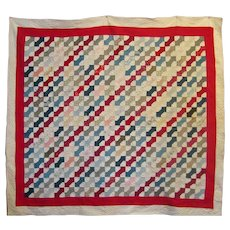 Patriotic Bowtie Quilt ~ Red White Blue Americana ~ Small Scale